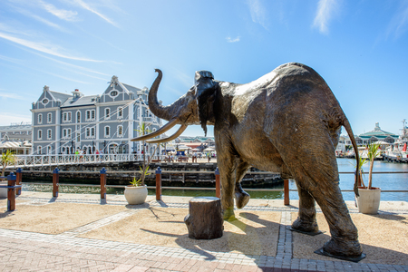sea life centre: CAPE TOWN, SOUTH AFRICA - FEB 22, 2013: Elephant statue in Cape Town, South Africa. Cape town is the most popular international touristic destination in Africa Editorial