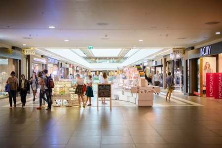 SAINT PETERSBURG, RUSSIA - AUGUST 14, 2014: Part of the Commercial center Galery in Saint Petersburg. One of the biggest commercial centres in the city, opened on Nov 25, 2010 Editorial