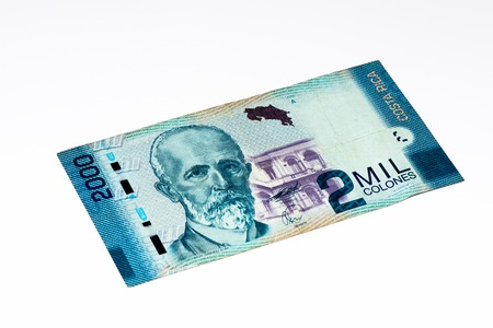 costa rican: 2000 Costa Rican colones bank note. Colones is the national currency of Costa Rica