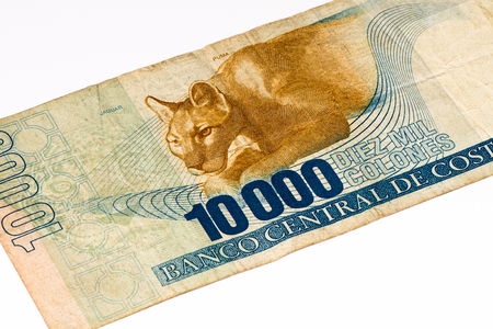 costa rican: 10000 Costa Rican colones bank note. Colones is the national currency of Costa Rica Stock Photo