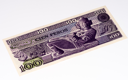 signo de pesos: 100 pesos de billetes de banco hizo en 2007