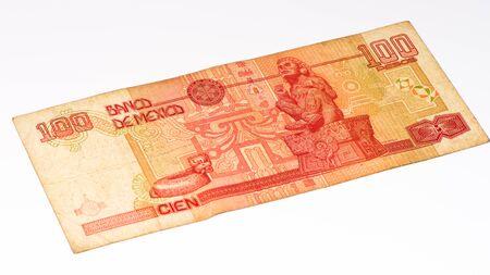 pesos: 100 Mexican pesos bank note made in 2007