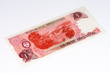 1 Argentinian peso bank note. Argentinian peso is the national currency of Argentina