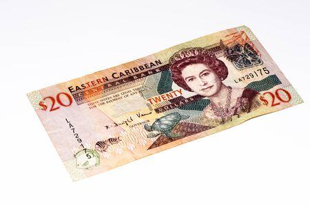 20 Eastern Caribbean dollars bank note. Stock Photo