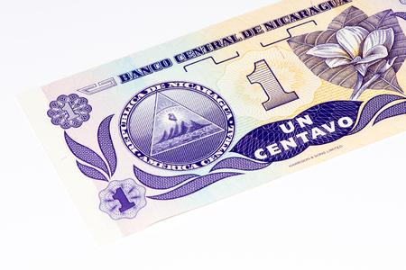 1 centavo de cordoba billet de banque. Centavo de cordoba est la monnaie nationale du Nicaragua