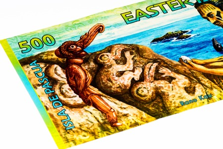 billet: 500 rongos billet of the Easter Island, equal to 1 US dollar