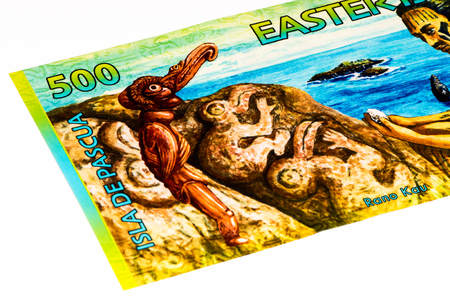 500 rongos billet of the Easter Island, equal to 1 US dollar