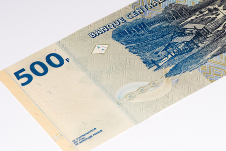 Congo: 500 Congolese francs bank note of Congo. Congoles franc is the national currency of Congo Stock Photo