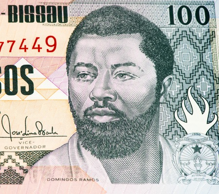 100 pesos bank note of Guine Bissau. Peso is the former currency of Guine Bissau