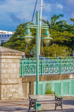 Historic part of Bridgetown, Barbados. Stock Photo