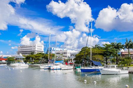 Port of Bridgetown in Barbados Stock Photo