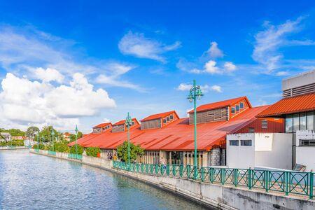 Historic part of Bridgetown, Barbados. World Heritage Site of UNESCO. Stock Photo