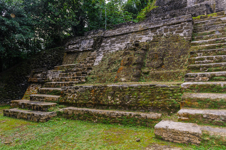 Xunantunich, an Ancient Mayan archaeological site in western Belize. Maya temple El Castillo