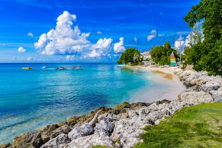 Coast of the Carribean Sea, Bridgetown, Barbados 写真素材