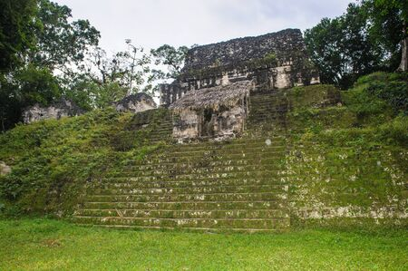 Lost world mayan largest ceremonial complex Stock Photo
