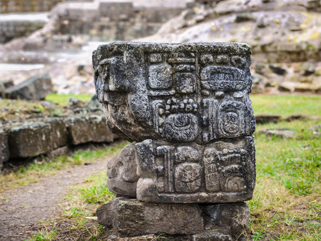 Maya time architecture of Copan, UNESCO World Heritage Site, Honduras, Central America