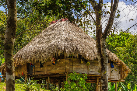 Wooden house in Panama Stock Photo