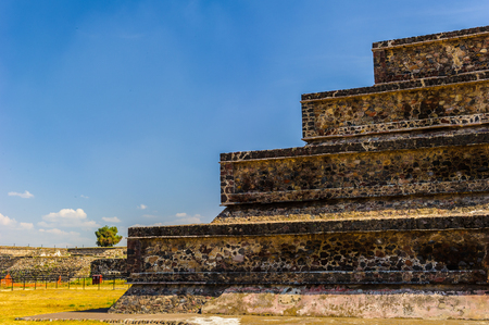 Pyramid from the Pre-Columbian Mesoamerican city Teotihuacan, Mexico Stock Photo