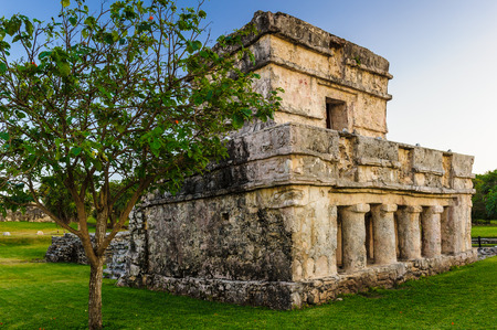 Temple of the Frescos, Yutacan, Mexico Stock Photo