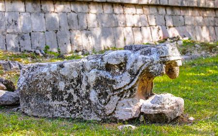 brocken: Brocken piece of the Chichen Itza, a large pre-Columbian city built by the Maya civilization. Mexico