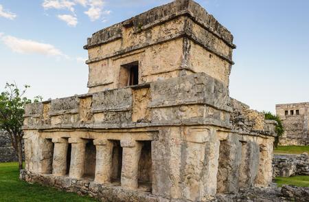 Temple of the Frescos, Yutacan, Mexico Stock Photo