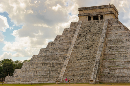 maya architecure of Chichen Itza, a large pre-Columbian city built by the Maya civilization. Mexico