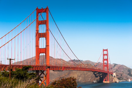 city and county building: Golden Gate Bridge, San Francisco, California, United States of America Stock Photo