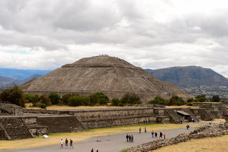 Sun Pyramid of Teotihuacan, was an ancient Mesoamerican city. UNESCO World Heritage Stock Photo