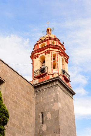 spanish home: Church in Puebla, Mexico. Stock Photo