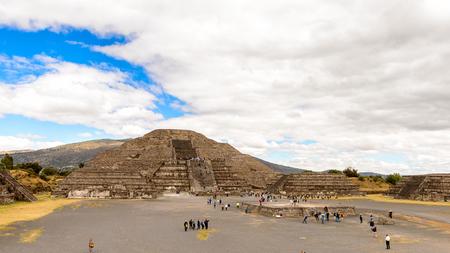 Moon Pyramid (Piramide de Luna) of Teotihuacan, site of many Mesoamerican pyramids built in the pre-Columbian Americas. Stock Photo