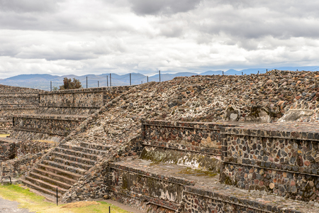 Part of Teotihuacan, site of many Mesoamerican pyramids built in the pre-Columbian Americas. UNESCO World Heritage