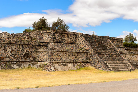 Platform of the Avenue of the Dead of Teotihuacan, site of many Mesoamerican pyramids built in the pre-Columbian Americas. UNESCO World Heritage