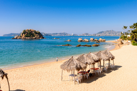 Coast of the Pacific Ocean, Acapulco, Mexico Standard-Bild