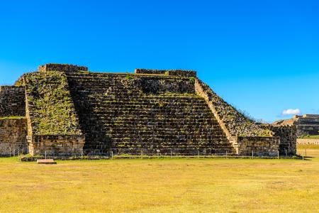 One of the buildings of Monte Alban, a large pre-Columbian archaeological site, Santa Cruz Xoxocotlan Municipality, Oaxaca State.  UNESCO World Heritage