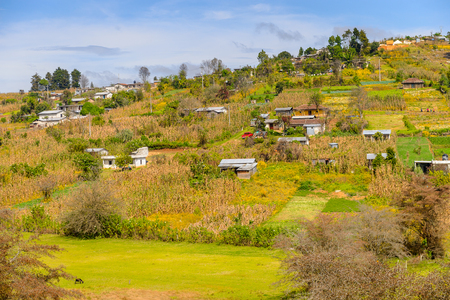 Nature near San Juan Chamula, state of Chiapas, Mexico.