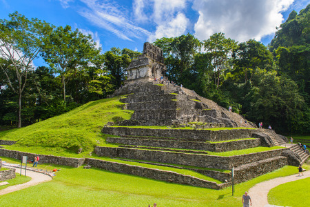 One of the temples of Palenque, was a pre-Columbian Maya civilization of Mesoamerica. Known as Lakamha (Big Water).