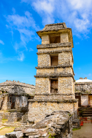 Observatory of the Palace of Palenque, was a pre-Columbian Maya civilization of Mesoamerica. Known as Lakamha (Big Water). UNESCO World Heritage