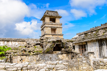 Part of the Palace of Palenque, a pre-Columbian Maya civilization of Mesoamerica. Known as Lakamha (Big Water). UNESCO World Heritage