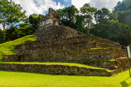 Archaeological object of Palenque, was a pre-Columbian Maya civilization of Mesoamerica. Known as Lakamha (Big Water). Stock Photo