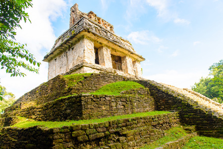 Temple of the Count, Palenque, was a pre-Columbian Maya civilization of Mesoamerica. Known as Lakamha (Big Water). UNESCO World Heritage
