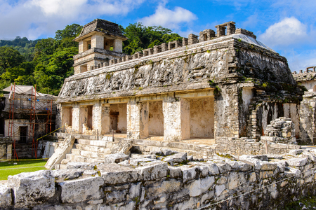 pre: Top of the Palace, Palenque, was a pre-Columbian Maya civilization of Mesoamerica. Known as Lakamha (Big Water). UNESCO World Heritage
