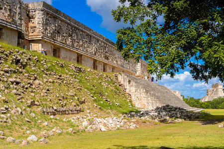 Governors Palace, Uxmal, an ancient Maya city of the classical period. One of the most important archaeological sites of Maya culture.