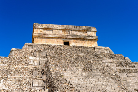 El Castillo (Temple of Kukulcan),  a Mesoamerican step-pyramid, Chichen Itza. It was a large pre-Columbian city built by the Maya people of the Terminal Classic period.