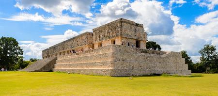 Palais des gouverneurs, Uxmal, une ancienne cité maya de la période classique. L'un des sites archéologiques les plus importants de la culture maya. Patrimoine mondial de l'UNESCO
