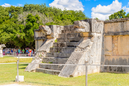 Chichen Itza, Tinum Municipality, Yucatan State. It was a large pre-Columbian city built by the Maya people of the Terminal Classic period. Stock Photo