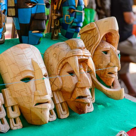 Mask, Authentic handcraft souvenirs of maya civilisation