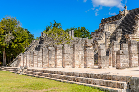 Part of the Chichen Itza complex, Tinum Municipality, Yucatan State. It was a large pre-Columbian city built by the Maya people of the Terminal Classic period. UNESCO World Heritage