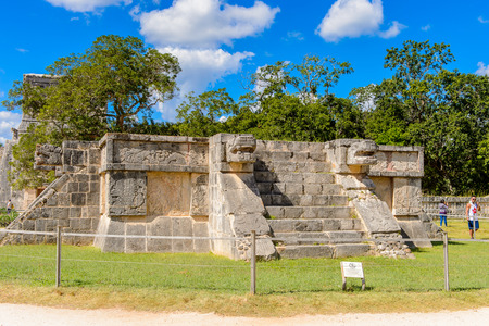 Venus Platform, Chichen Itza, Tinum Municipality, Yucatan State. It was a large pre-Columbian city built by the Maya people of the Terminal Classic period.