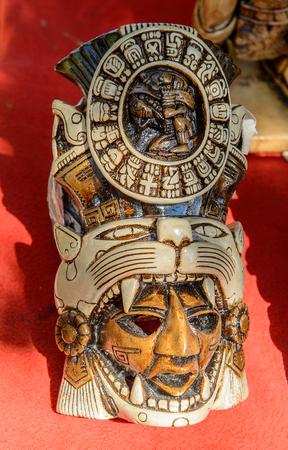 Masks, Authentic handcraft souvenirs of maya civilisation Reklamní fotografie