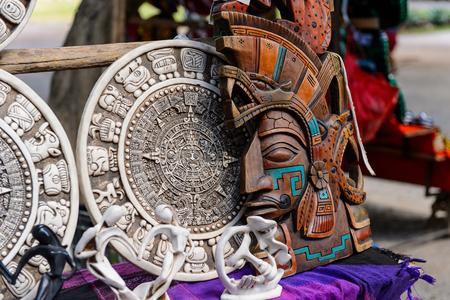 Maya calendar, Authentic handcraft souvenirs of maya civilisation Stock Photo